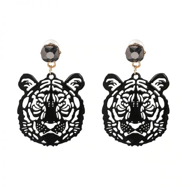 ab017ff4 f7c9 5b23 a3fe 1a5bc54e099a » CHRISTI TASKER MIAMI » Designer Fashion Jewelry & Home Decor Boutique » Acrylic Rhinestone Eye of the Tiger Earrings » One of my all-time favorite designs which is originally inspired by Siegfried & Roy the white tiger show in Las Vegas. They also look a little like Gucci. I've created this design in gold cutwork metal and now the tigers are in detailed cutwork acrylic with a rhinestone earring fastener. Super lightweight and easy to wear, these tiger earrings are showstoppers. Seriously, I get so many compliments when I wear these. They're a great way to start a conversation.