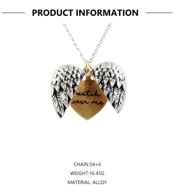 "b230bf02 5dc8 5e34 9a97 bef6933f8803 » CHRISTI TASKER MIAMI » Designer Fashion Jewelry & Home Decor Boutique » ""Watch Over Me"" Angel Wings Open Heart Necklace Silver Gold » My prayer for you is that God always watches over you. Let this open heart pendant necklace remind you that God and his angels are always watching over us. In Psalm 121:5-8 the Bible says: 5 The Lord watches over you— the Lord is your shade at your right hand; 6 the sun will not harm you by day, nor the moon by night. 7 The Lord will keep you from all harm— he will watch over your life; 8 the Lord will watch over your coming and going both now and forevermore. New International Version (NIV) The heart is inside the wings just as we are under the Father God's protection no matter where we travel to, no matter where our paths may lead."