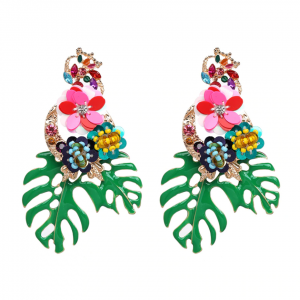 Christi Tasker, Versace, Kate Spade, Betsey Johnson, Look alike, earrings, palm leaf earrings, palm leaf, lion head, gold lion head earrings, tropical earrings, designer earrings, miami designer, miami fashion