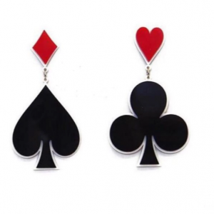 Playing Card Earrings, playing card jewelry, card earrings