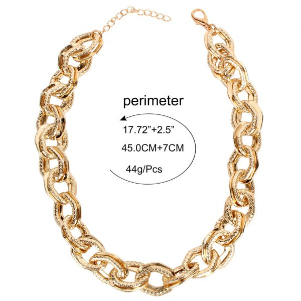 4f486104 c0d5 510a a353 27eaa80f0202 » Chunky chain gold necklace » CHRISTI TASKER MIAMI » Designer Fashion Jewelry & Home Decor Boutique » Miami Yacht Club Ropes | Double Chunky Chain Gold Necklace » The perfect staple for every wardrobe, my Miami Yacht Club Ropes necklace is super detailed double chainlinks with fine rope etching on one of the links. See my recommendations below for earrings that coordinate nicely with this necklace.