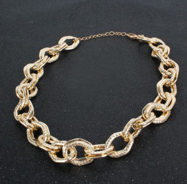 60f0aa17 4c8e 5387 910e 30d81419ea82 » Chunky chain gold necklace » CHRISTI TASKER MIAMI » Designer Fashion Jewelry & Home Decor Boutique » Miami Yacht Club Ropes | Double Chunky Chain Gold Necklace » The perfect staple for every wardrobe, my Miami Yacht Club Ropes necklace is super detailed double chainlinks with fine rope etching on one of the links. See my recommendations below for earrings that coordinate nicely with this necklace.