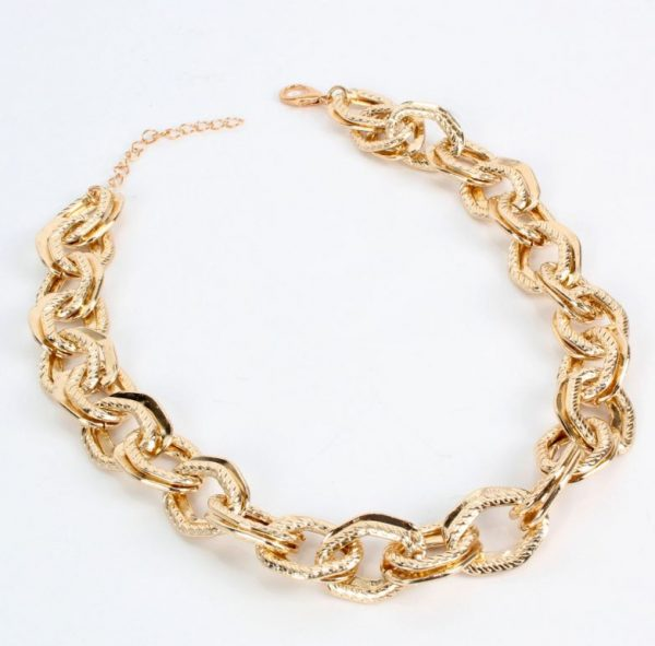 7138a818 a06d 563f 9c81 45d1822c765e » Chunky chain gold necklace » CHRISTI TASKER MIAMI » Designer Fashion Jewelry & Home Decor Boutique » Miami Yacht Club Ropes | Double Chunky Chain Gold Necklace » The perfect staple for every wardrobe, my Miami Yacht Club Ropes necklace is super detailed double chainlinks with fine rope etching on one of the links. See my recommendations below for earrings that coordinate nicely with this necklace.