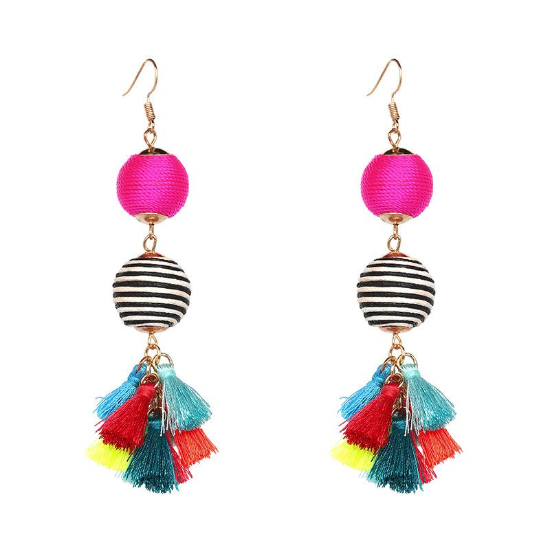 colorful, Bohemian, Tassel, Earrings, tassle, Christi Tasker, resort wear, beach fashion, earrings, tropical earrings, designer earrings, miami designer, miami fashion