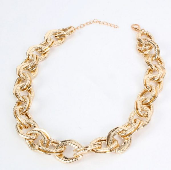 97213da4 0466 5d15 a84a 7f3fa086c157 » Chunky chain gold necklace » CHRISTI TASKER MIAMI » Designer Fashion Jewelry & Home Decor Boutique » Miami Yacht Club Ropes | Double Chunky Chain Gold Necklace » The perfect staple for every wardrobe, my Miami Yacht Club Ropes necklace is super detailed double chainlinks with fine rope etching on one of the links. See my recommendations below for earrings that coordinate nicely with this necklace.
