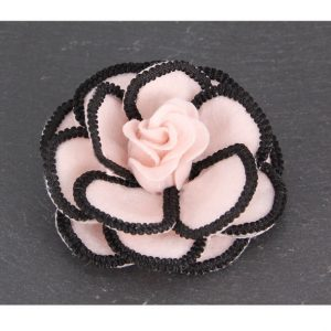Pink Flower Brooches