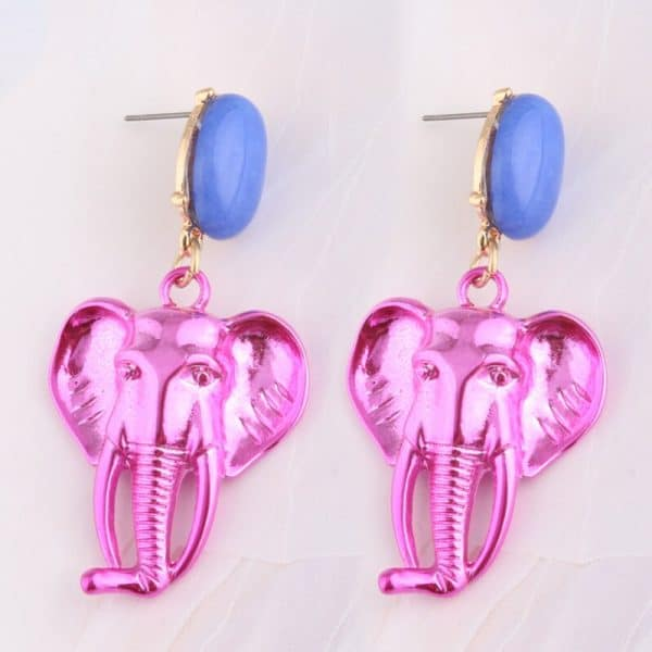 921f4d3b 0cbf 5fbc b89c 5cb6066bc681 » CHRISTI TASKER MIAMI » Designer Fashion Jewelry & Home Decor Boutique » Chromatic Creative Elephant Earrings | Female Empowerment » My colorful chromatic elephant earrings are an artistic reminder that women need to stick together and support each other. The elephant is one of nature's many reminders that women are great leaders, especially in groups. They are creative communicators with long memories. Wear these elephant earrings with the pride of leadership and freedom. Like an elephant's tusk, never stop growing. Be like an elephant, welcome 'strangers' to join you. Enjoy the compliments you'll receive and the conversations you'll start with these elephants hanging around